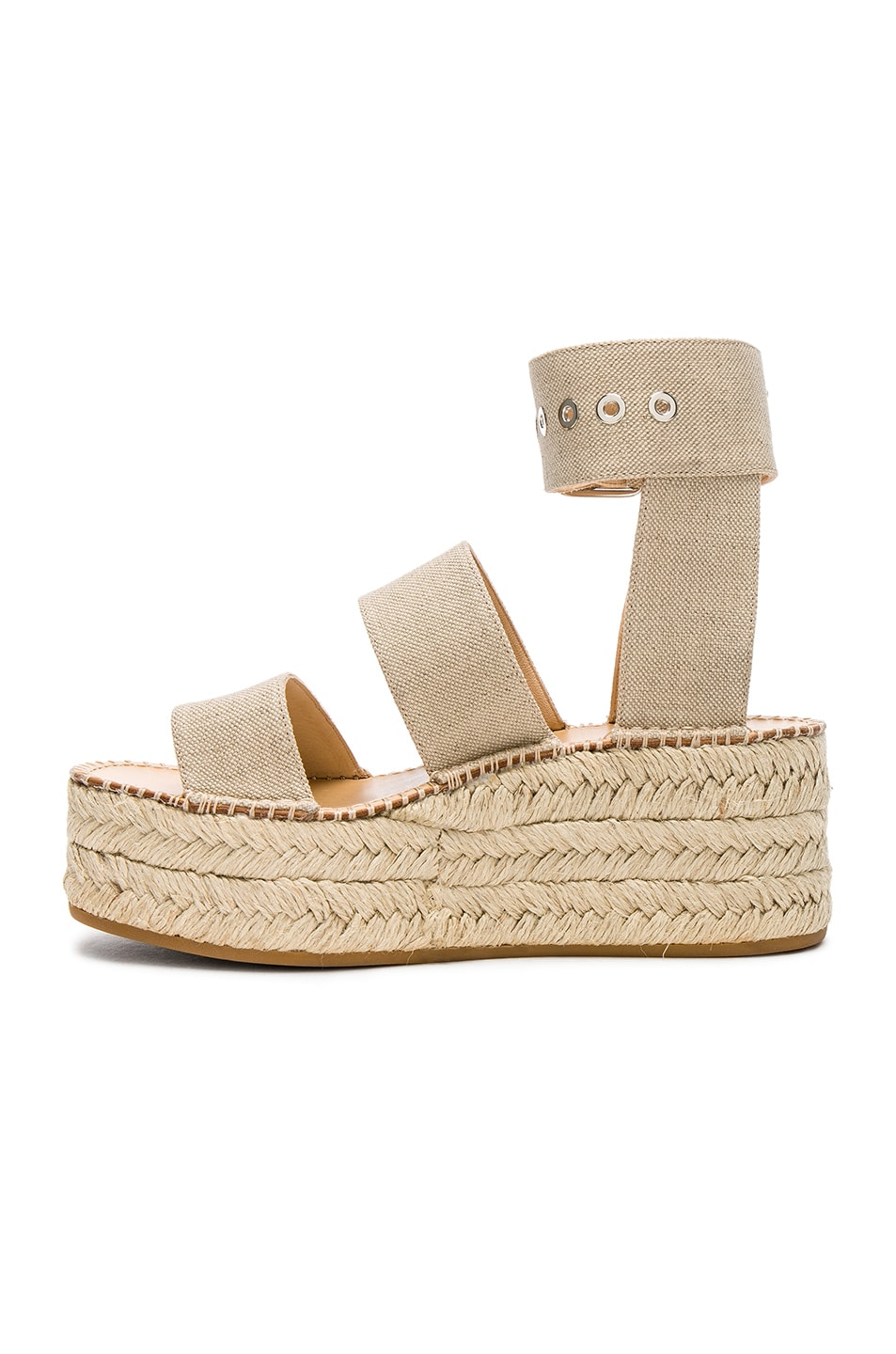 Image 5 of Rag & Bone Canvas Tara Sandals in Natural Canvas