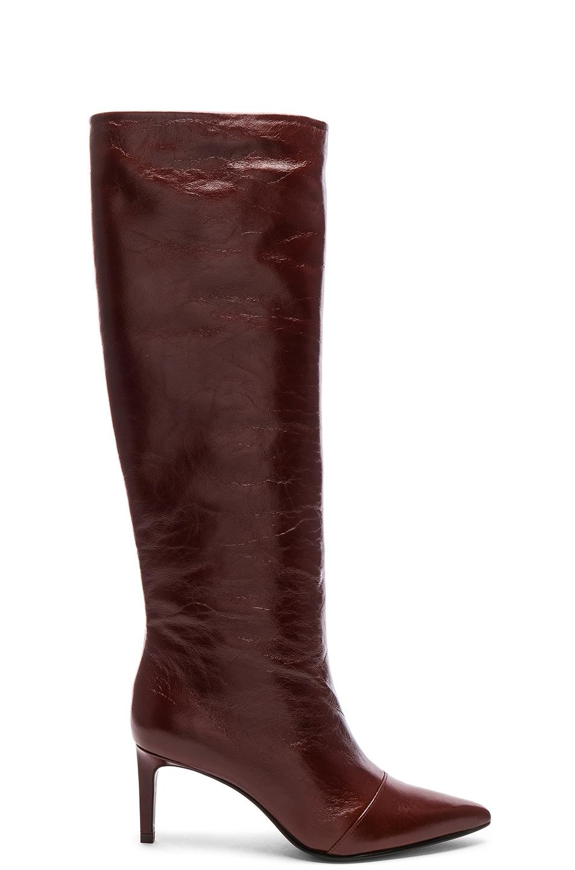 da474bd017c Image 1 of Rag   Bone Leather Beha Knee High Boots in Mahogany