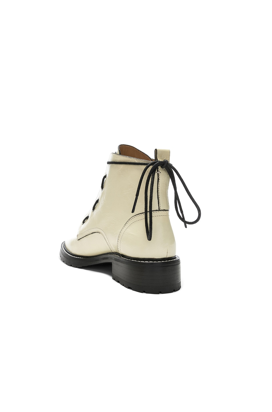 Image 3 of Rag & Bone Leather Cannon Boots in White