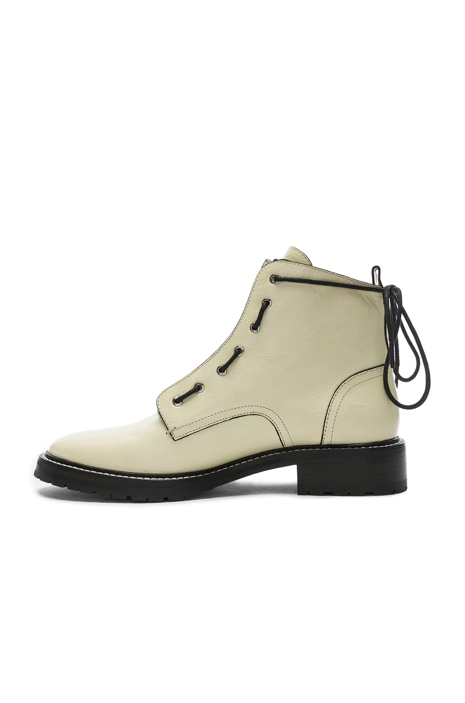 Image 5 of Rag & Bone Leather Cannon Boots in White