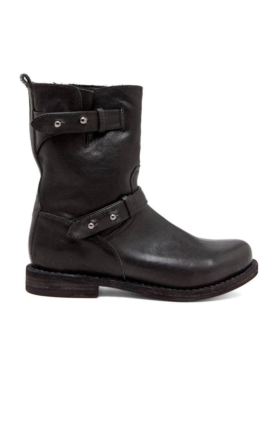 Image 1 of Rag & Bone Leather Moto Boots in Black