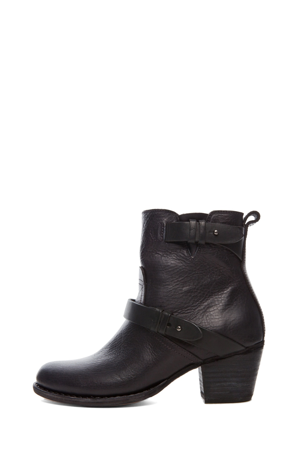 Image 1 of Rag & Bone Harper Leather Moto Boots in Black