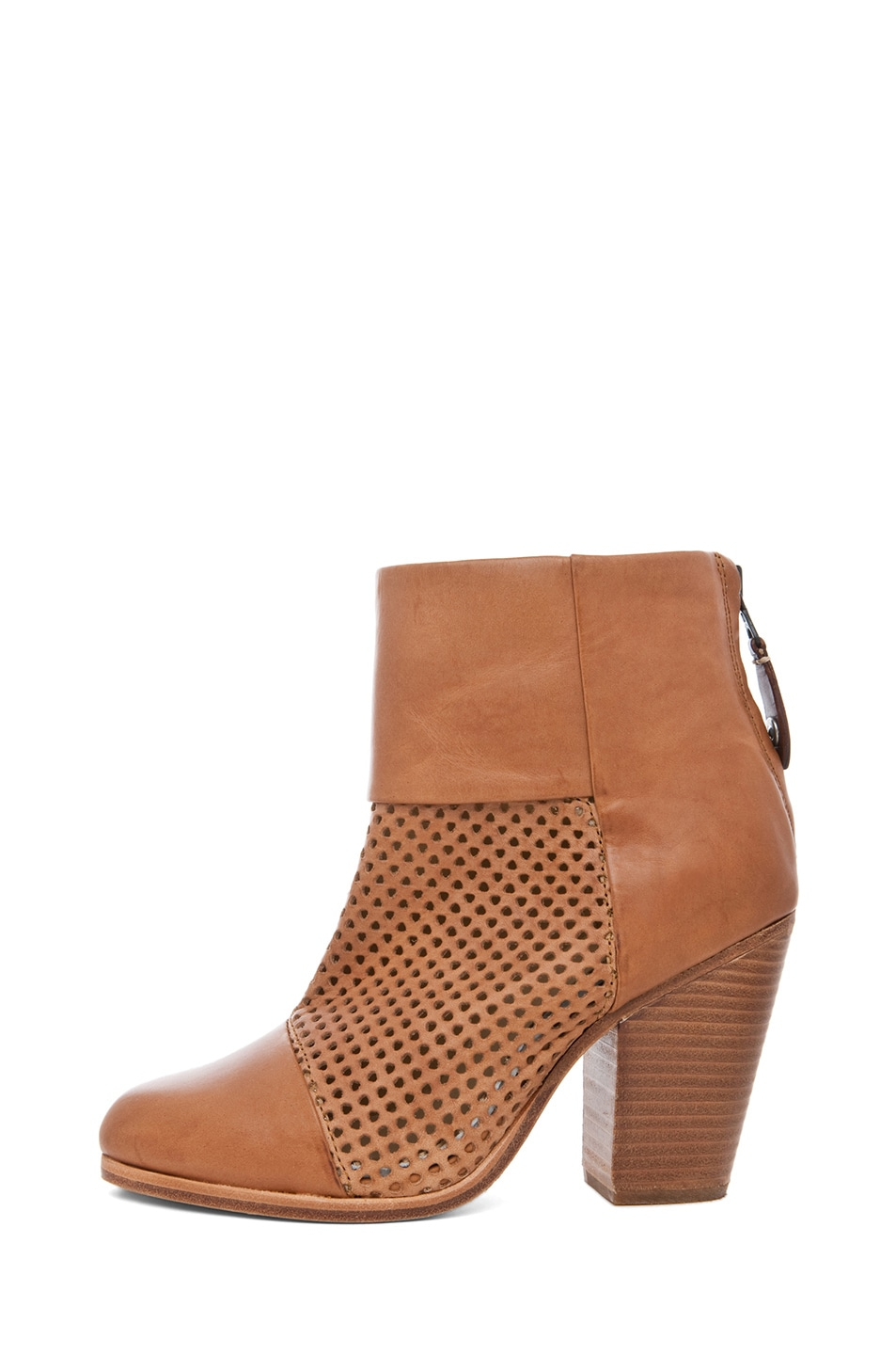 Image 1 of Rag & Bone Classic Perforated Newbury in Tan