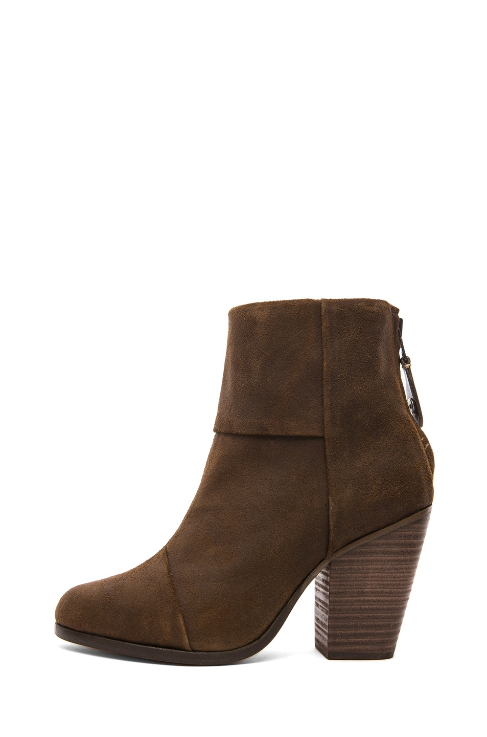 Image 1 of Rag & Bone Classic Newbury Waxed Suede in Brown