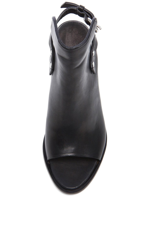 Image 4 of Rag & Bone Wyatt Leather Booties in Black