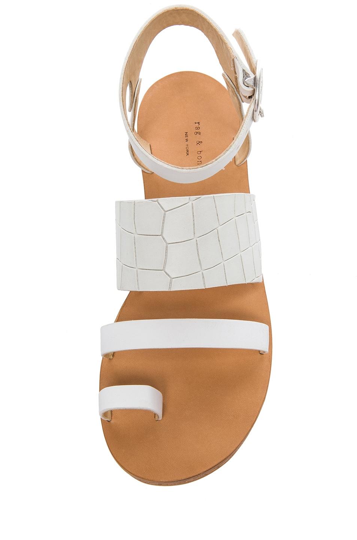 8b5fc3aaec0 Rag & Bone Chartan Leather Sandals in White   FWRD