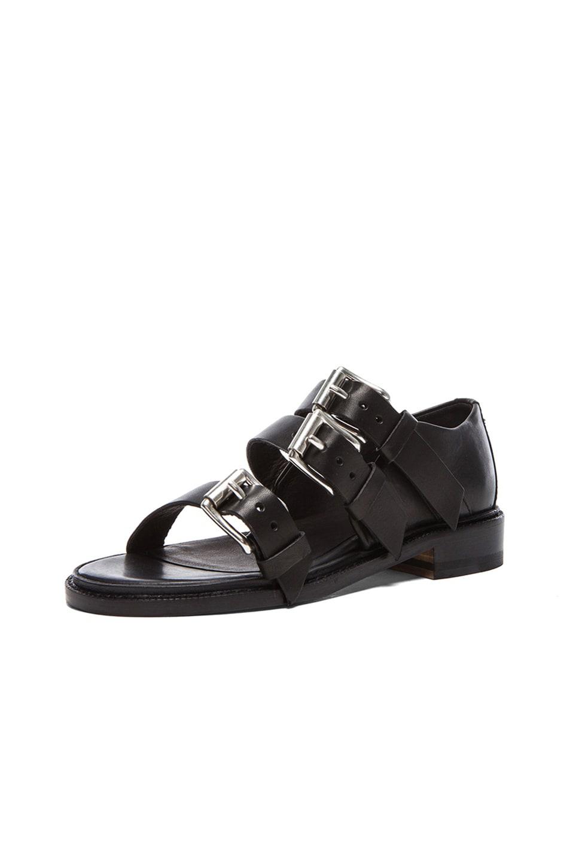 Image 2 of Rag & Bone Hudson Leather Sandals in Black