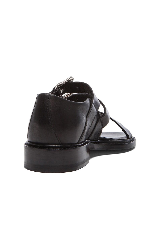 Image 3 of Rag & Bone Hudson Leather Sandals in Black