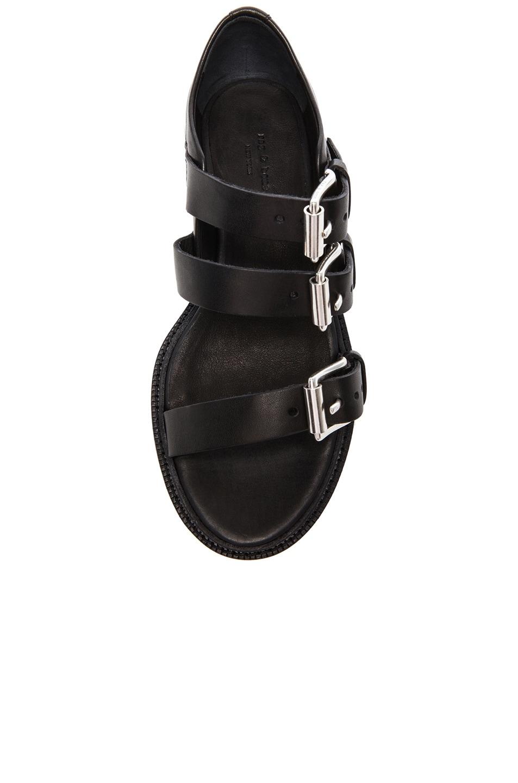 Image 4 of Rag & Bone Hudson Leather Sandals in Black