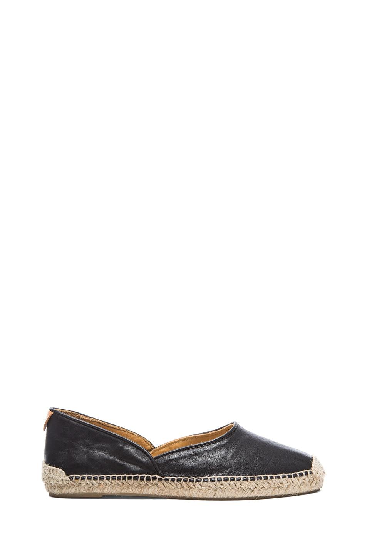 Image 1 of Rag & Bone Georgie Leather Espadrilles in Black