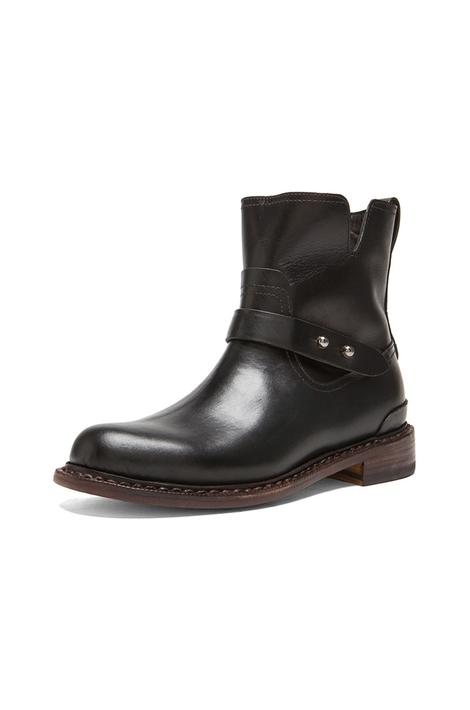 Image 2 of Rag & Bone Ashford New Moto Leather Boots in Black