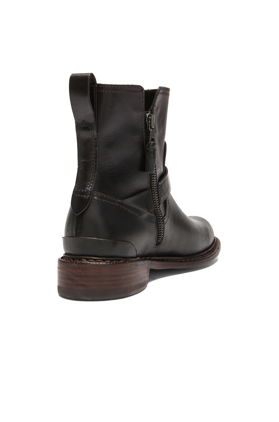 Image 3 of Rag & Bone Ashford New Moto Leather Boots in Black
