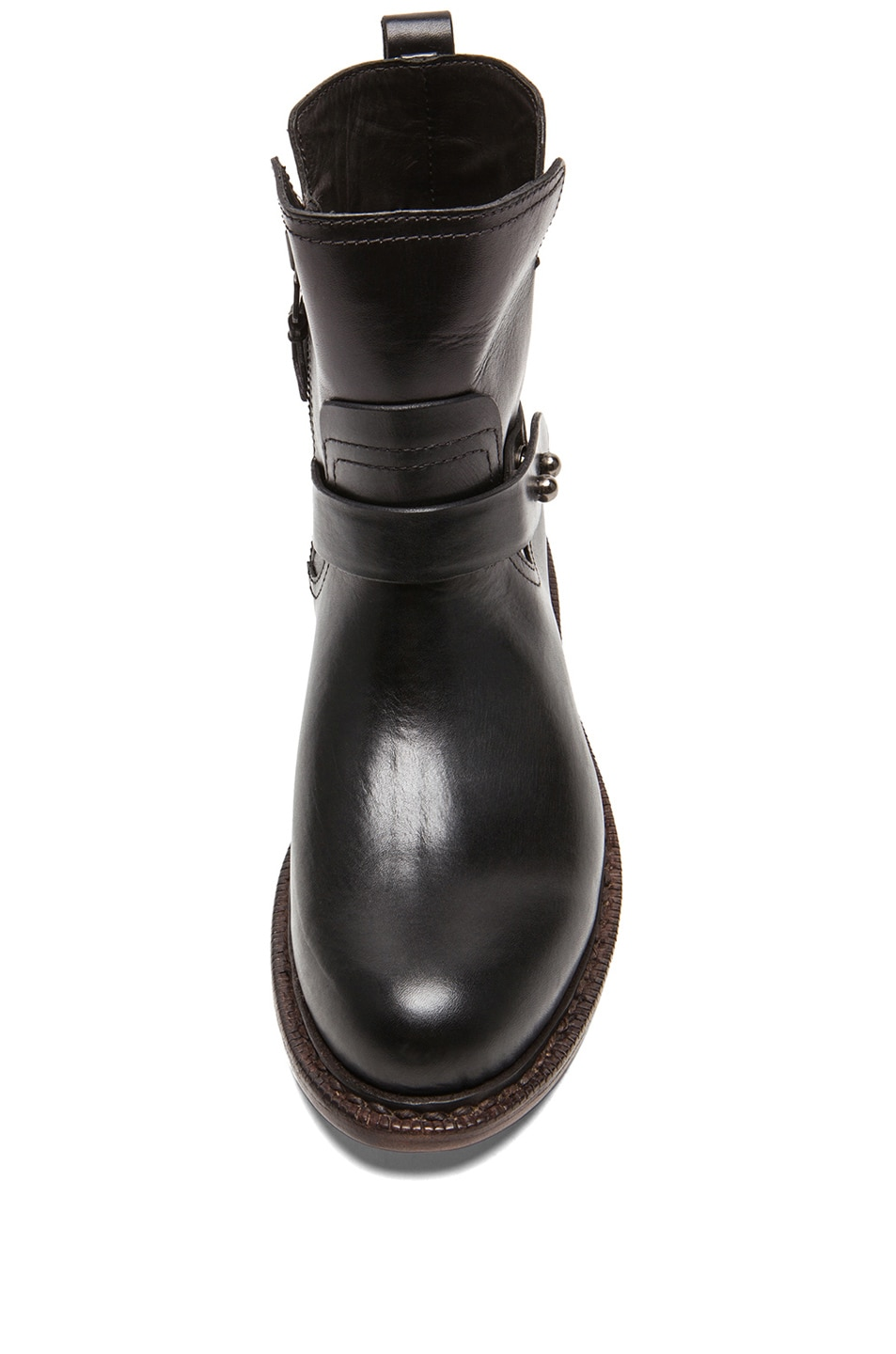 Image 4 of Rag & Bone Ashford New Moto Leather Boots in Black