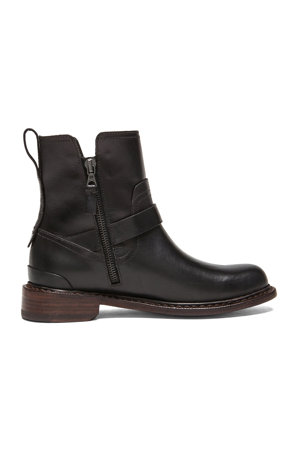 Image 5 of Rag & Bone Ashford New Moto Leather Boots in Black
