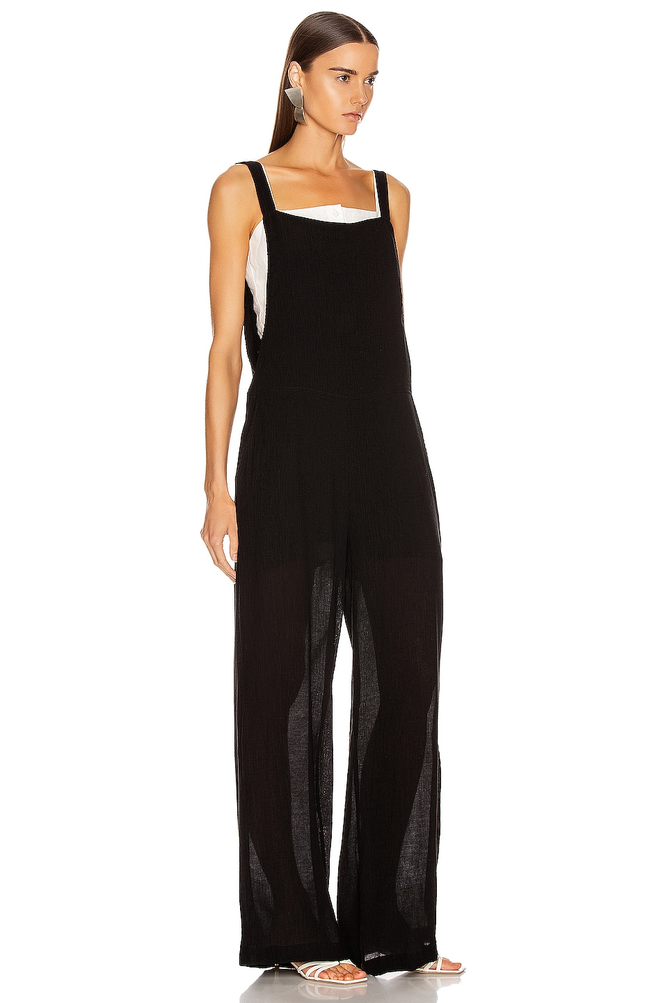 Image 2 of The Range Vapor Voile Overalls in Faded Black