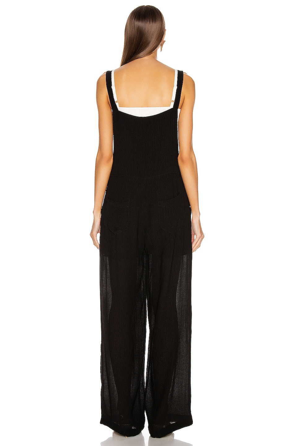 Image 3 of The Range Vapor Voile Overalls in Faded Black