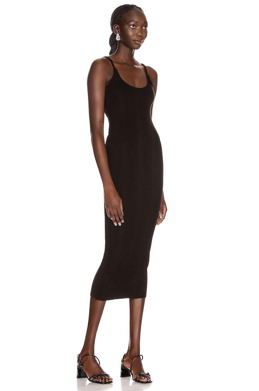 Image 2 of The Range Braided Midi Dress in Black