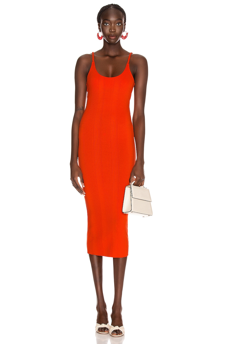 Image 1 of The Range Braided Midi Dress in Lava