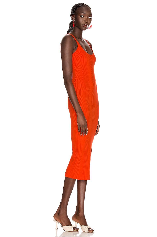 Image 2 of The Range Braided Midi Dress in Lava