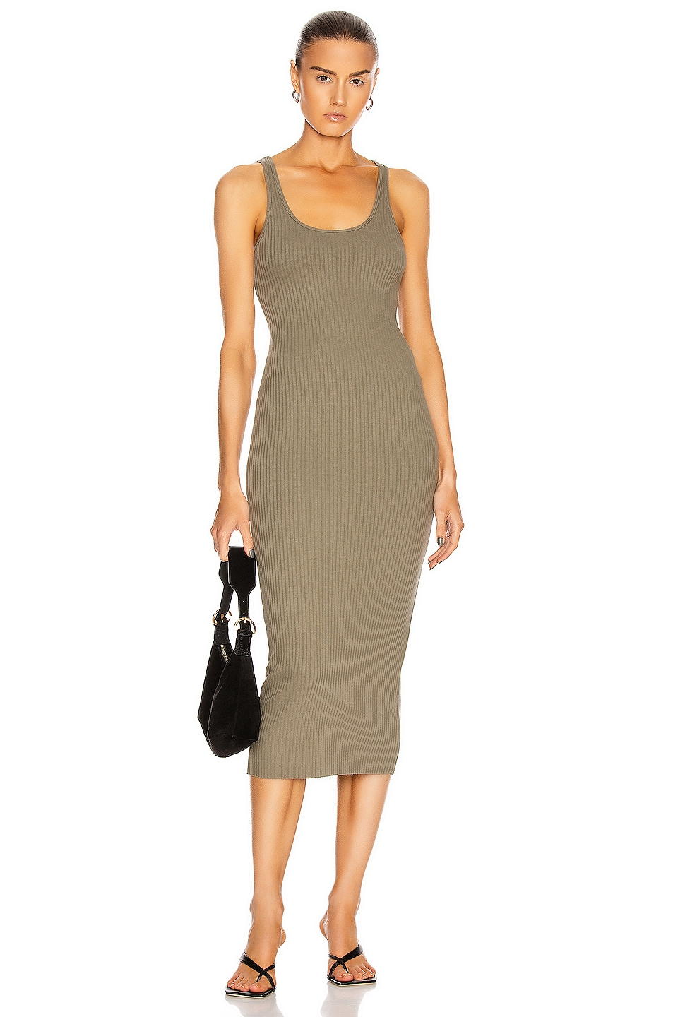 Image 1 of The Range Utilitarian Tank Dress in Utility