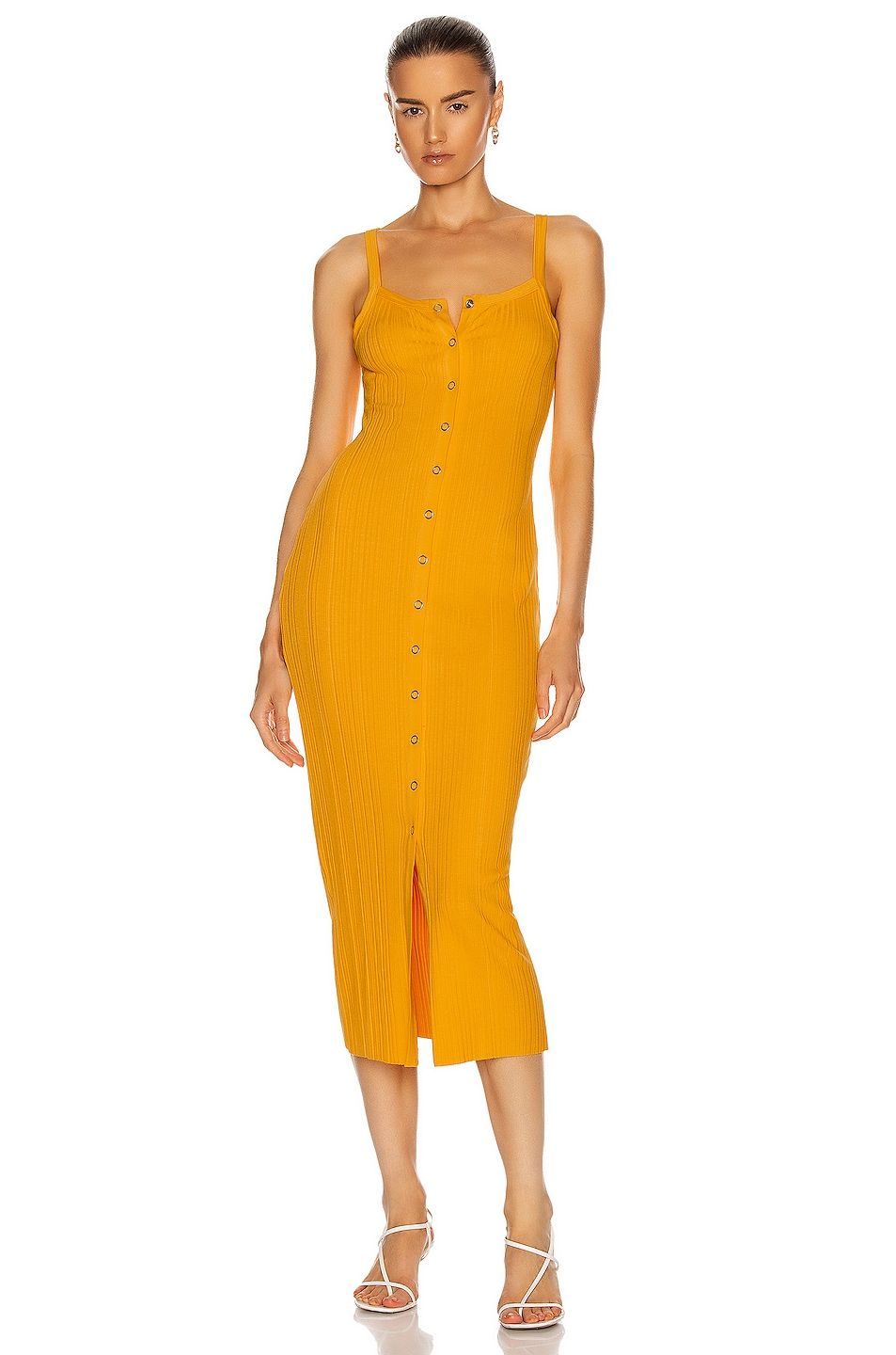 Image 1 of The Range Buttoned Up Midi Dress in Glow