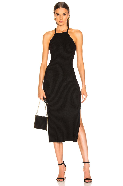 Image 1 of The Range Framed Rib Midi Dress in Black