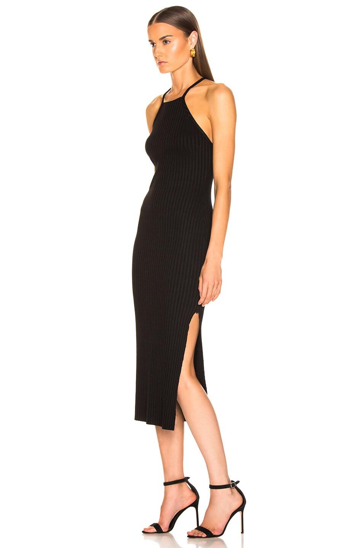 Image 3 of The Range Framed Rib Midi Dress in Black