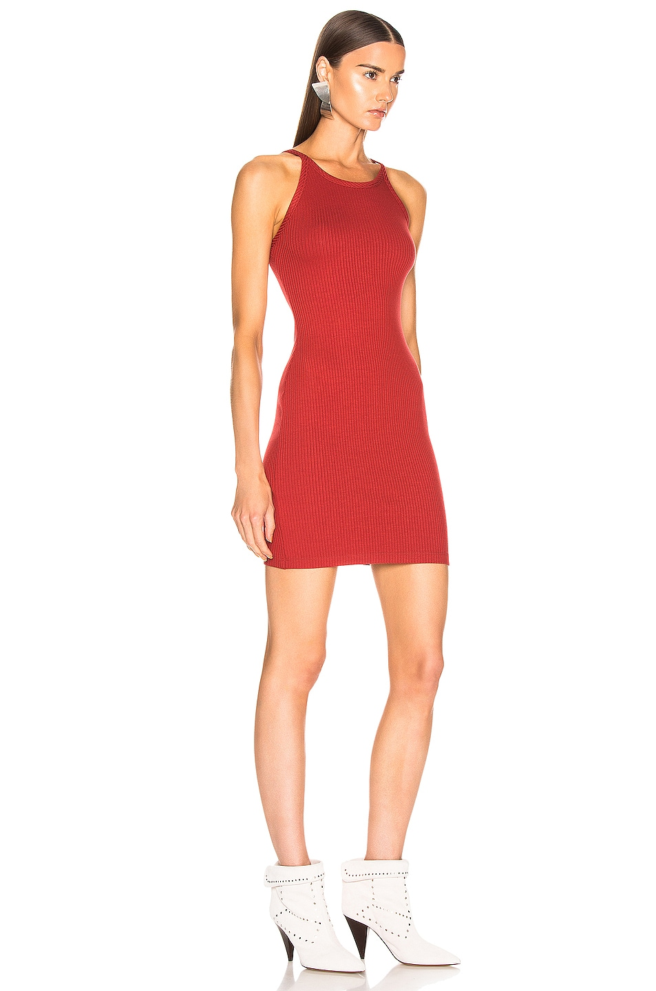 Image 2 of The Range Alloy Rib Banded Mini Dress in Sunburn