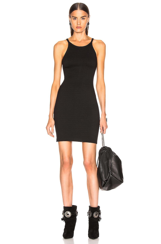 Image 1 of The Range Alloy Rib Banded Mini Dress in Black