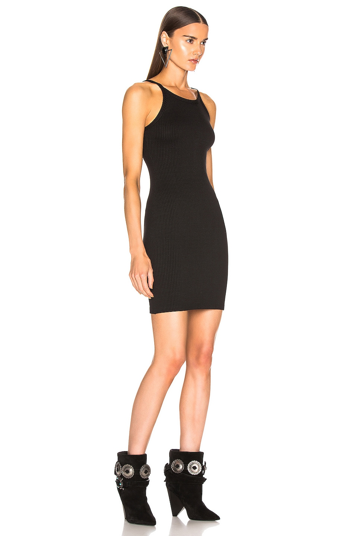 Image 2 of The Range Alloy Rib Banded Mini Dress in Black