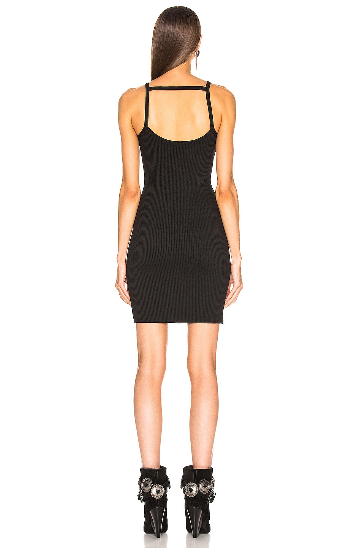Image 3 of The Range Alloy Rib Banded Mini Dress in Black