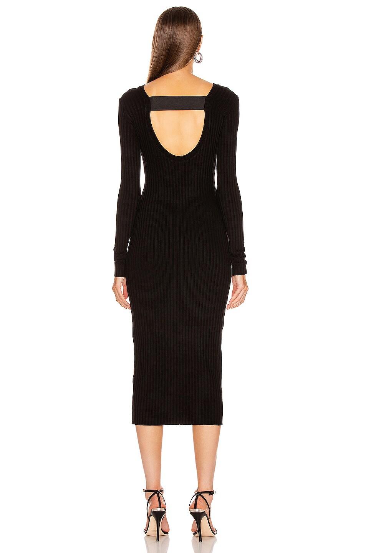 Image 4 of The Range Framed Rib Banded Midi Dress in Black