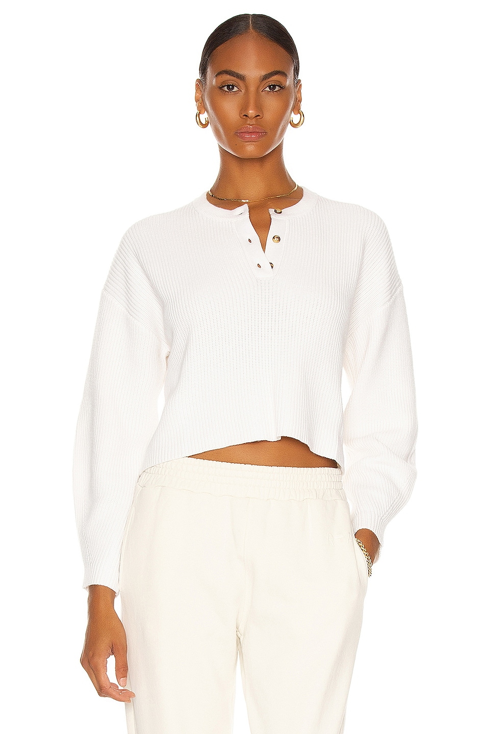 Image 1 of The Range Volume Sleeve Sweater in White