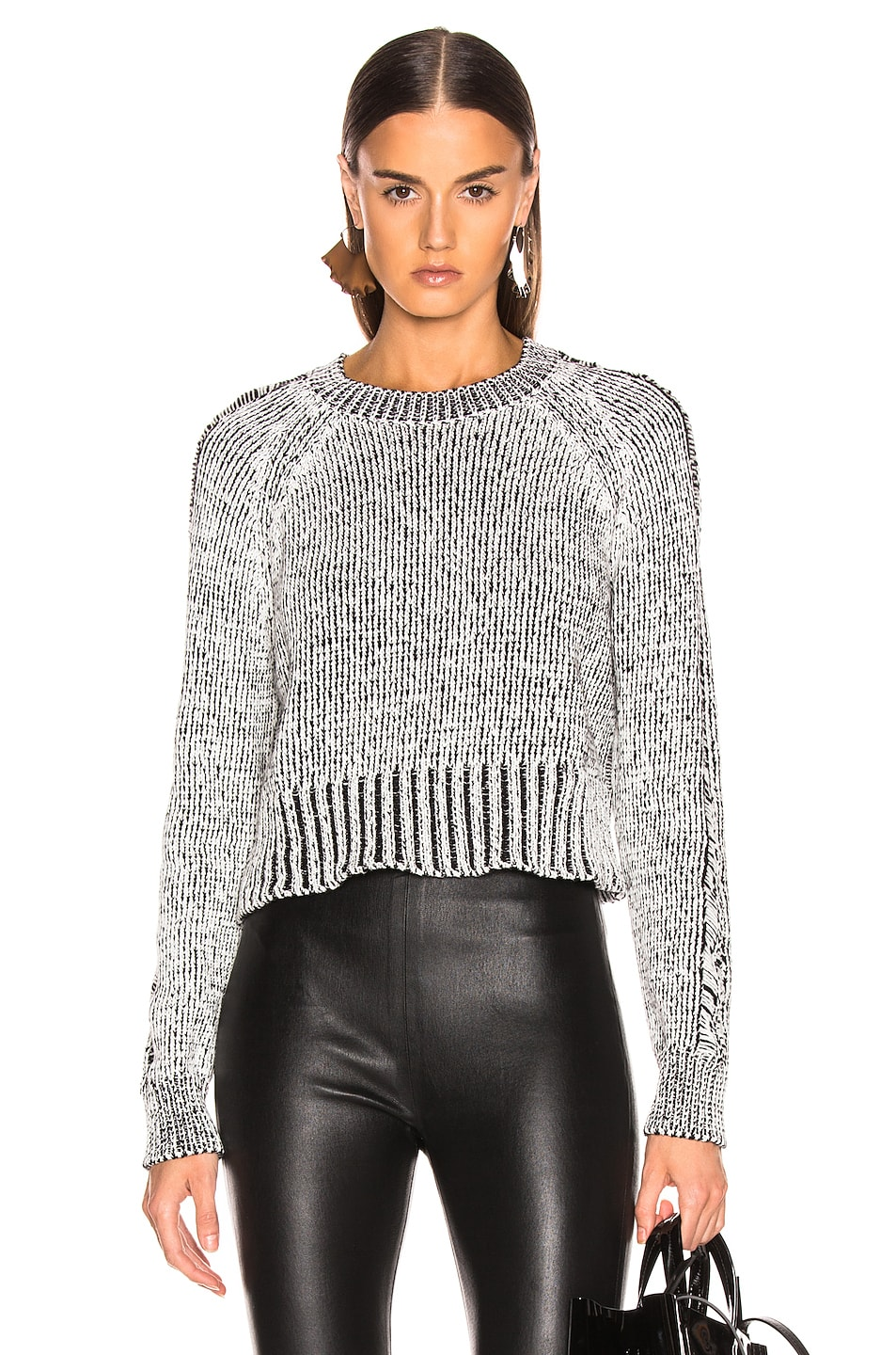Image 1 of The Range Storm Knit in White & Black