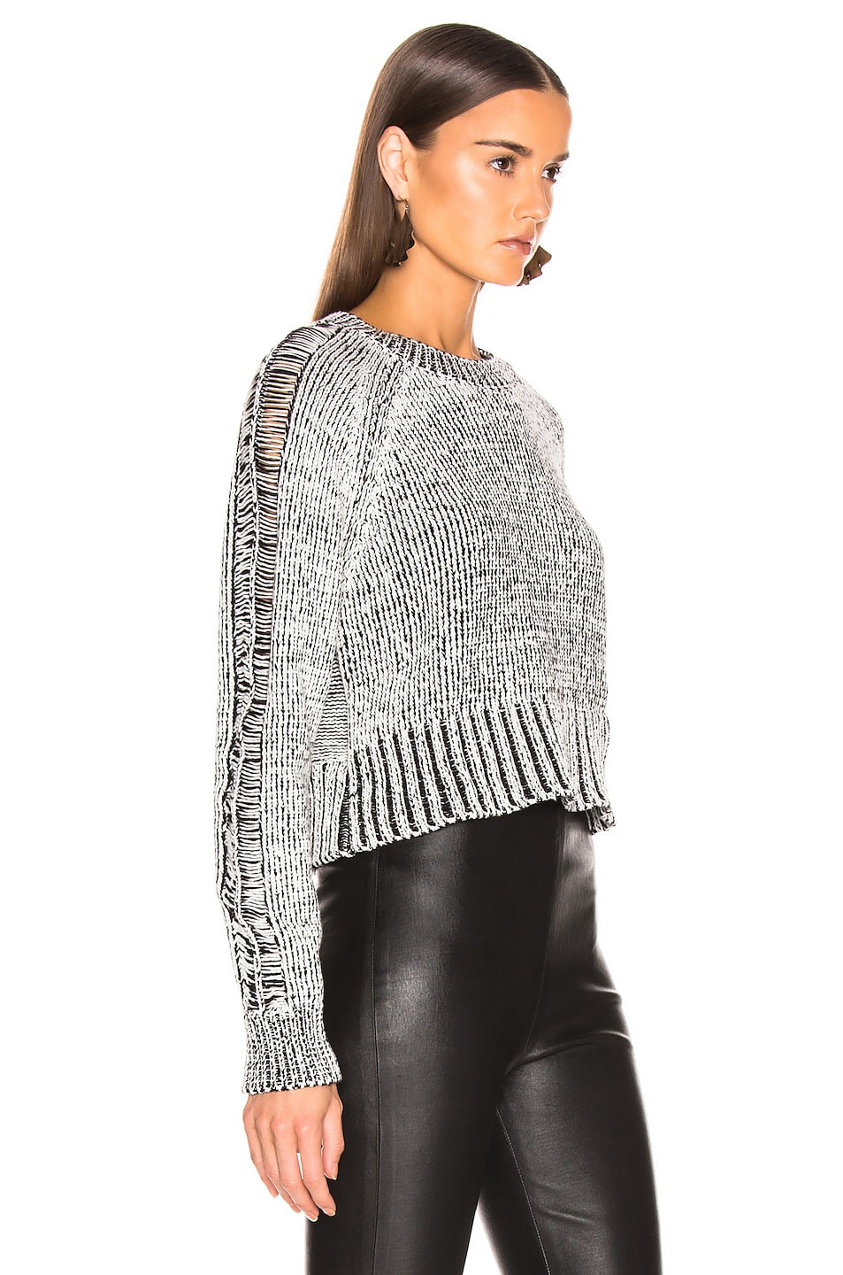 Image 2 of The Range Storm Knit in White & Black