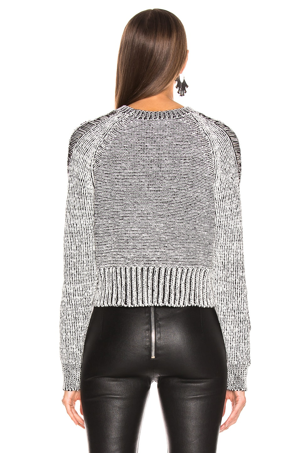 Image 3 of The Range Storm Knit in White & Black