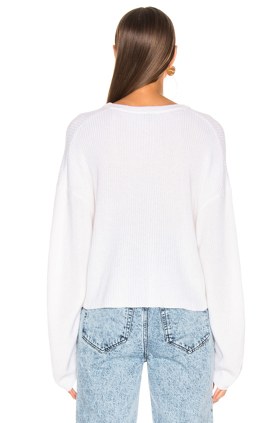 Image 3 of The Range Element Henley Sweater in White