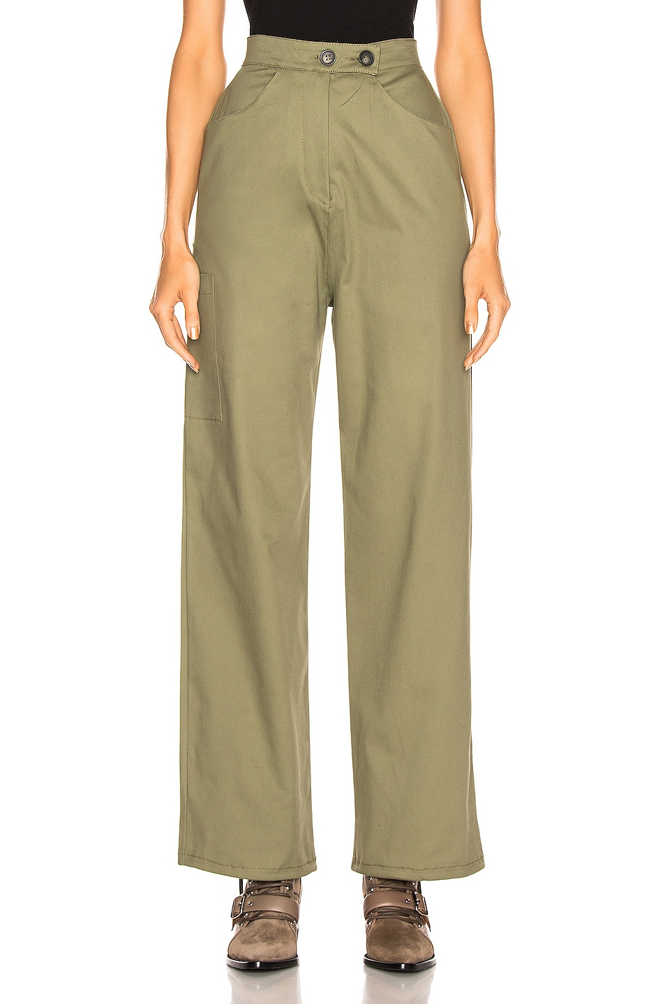 Image 2 of The Range Structured Cargo Pant in Fatigue