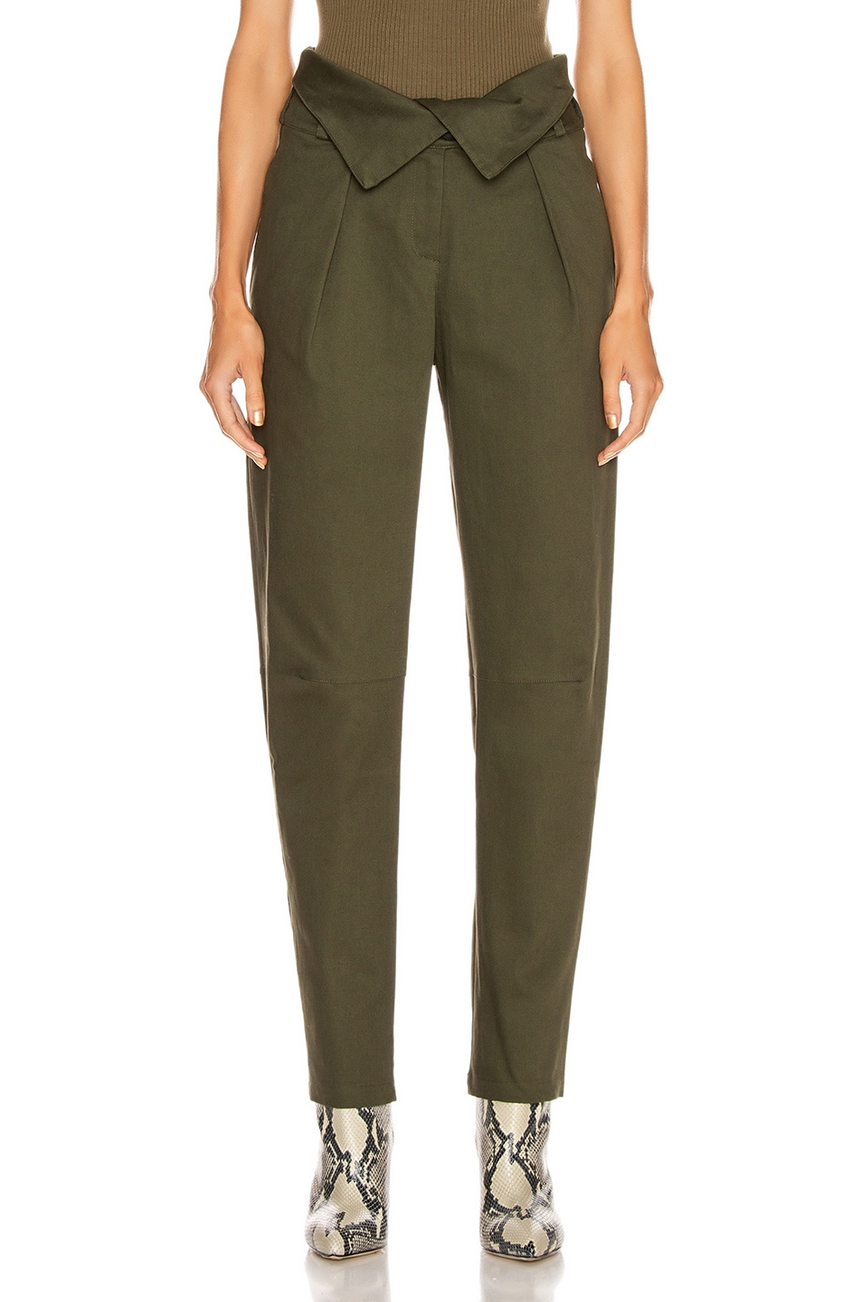 Image 1 of The Range Petite Corduroy Fold Over Pant in Deep Woods