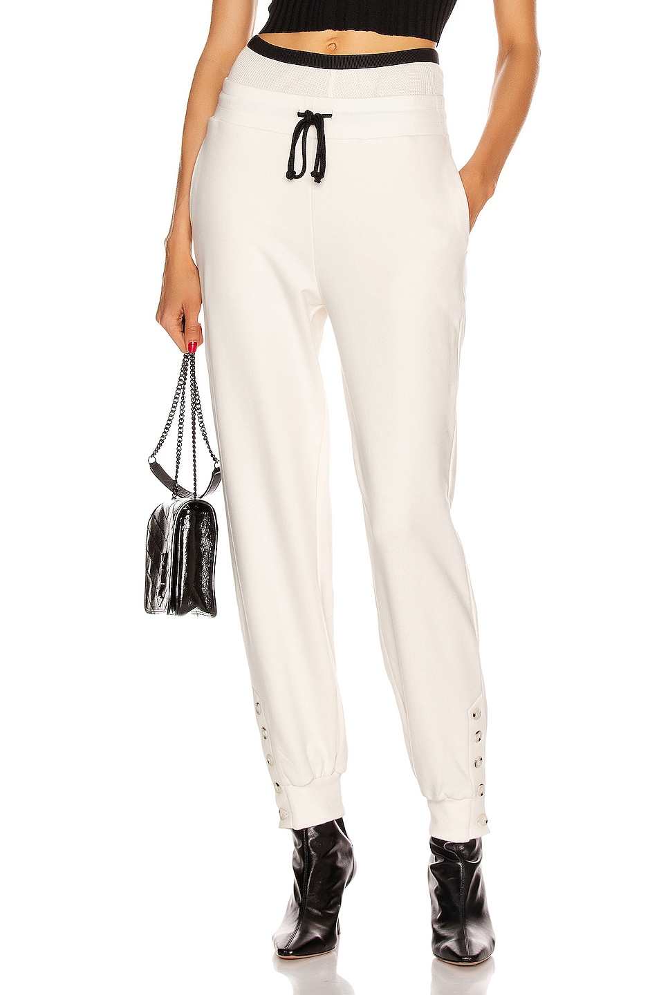 Image 1 of The Range Contral Terry Double Waist Jogger in Dove