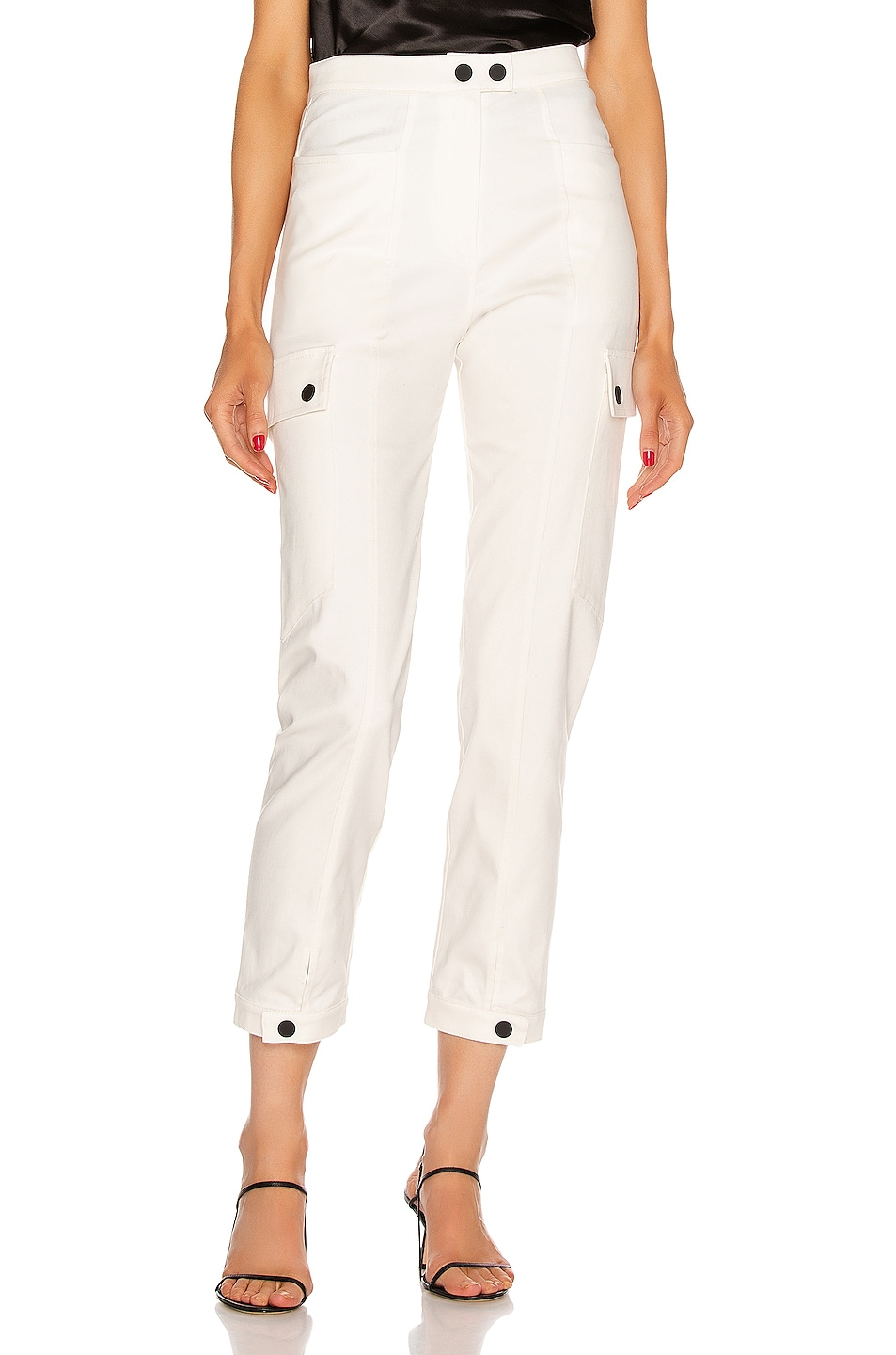 Image 1 of The Range Structured Twill Split Cargo Pants in Dove