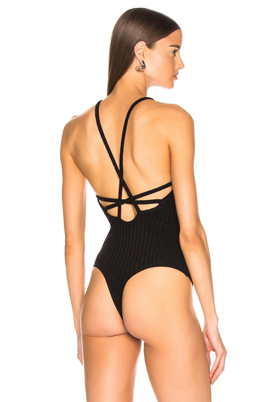 Image 4 of The Range Framed Rib Bodysuit in Black