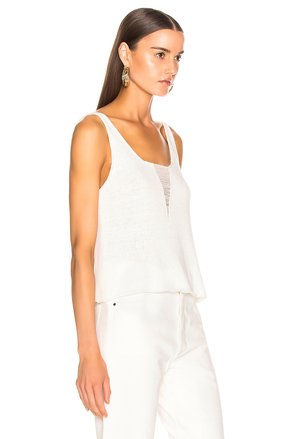Image 2 of The Range Storm Deconstructed Knit Tank Top in White