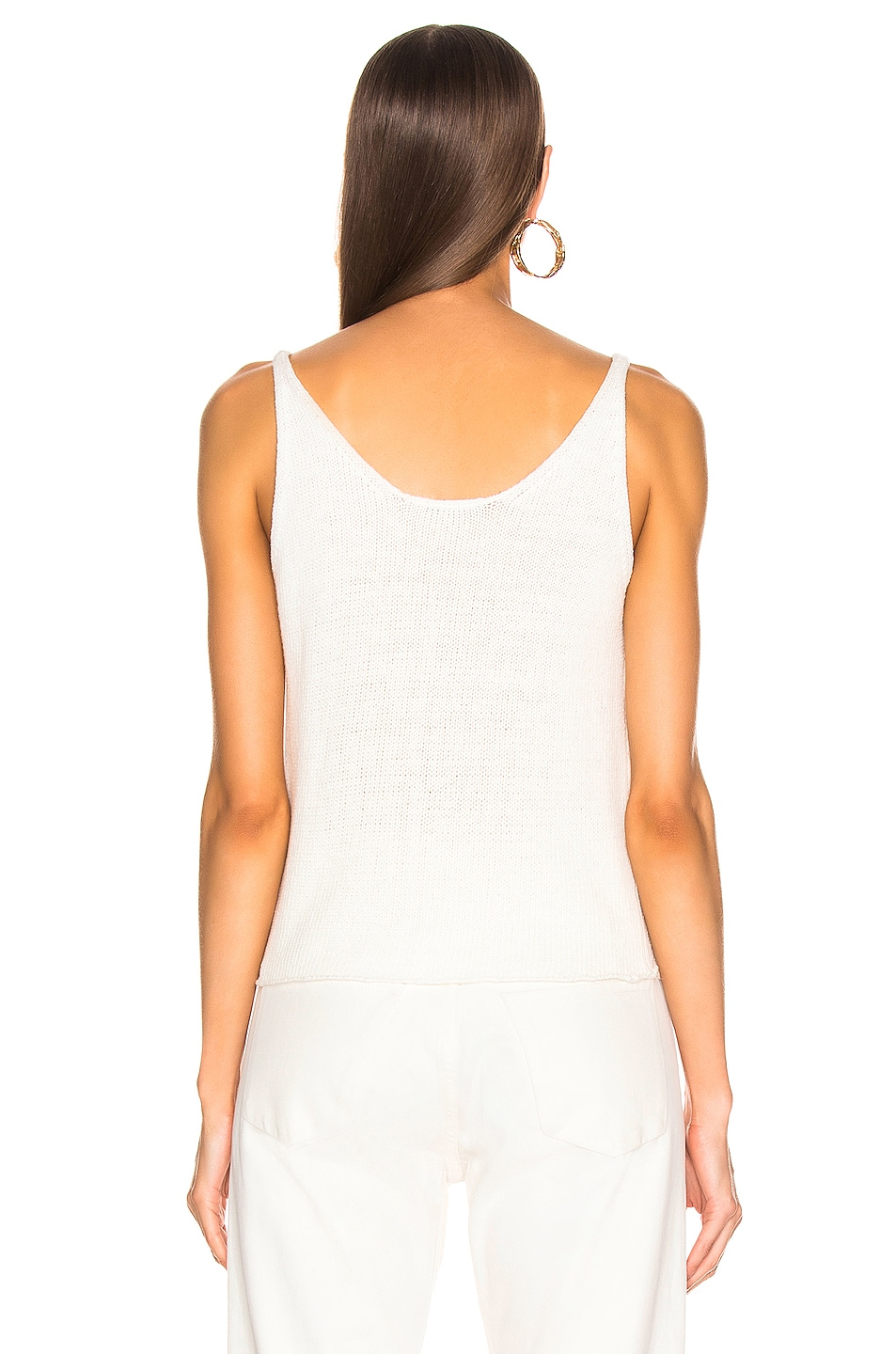 Image 3 of The Range Storm Deconstructed Knit Tank Top in White
