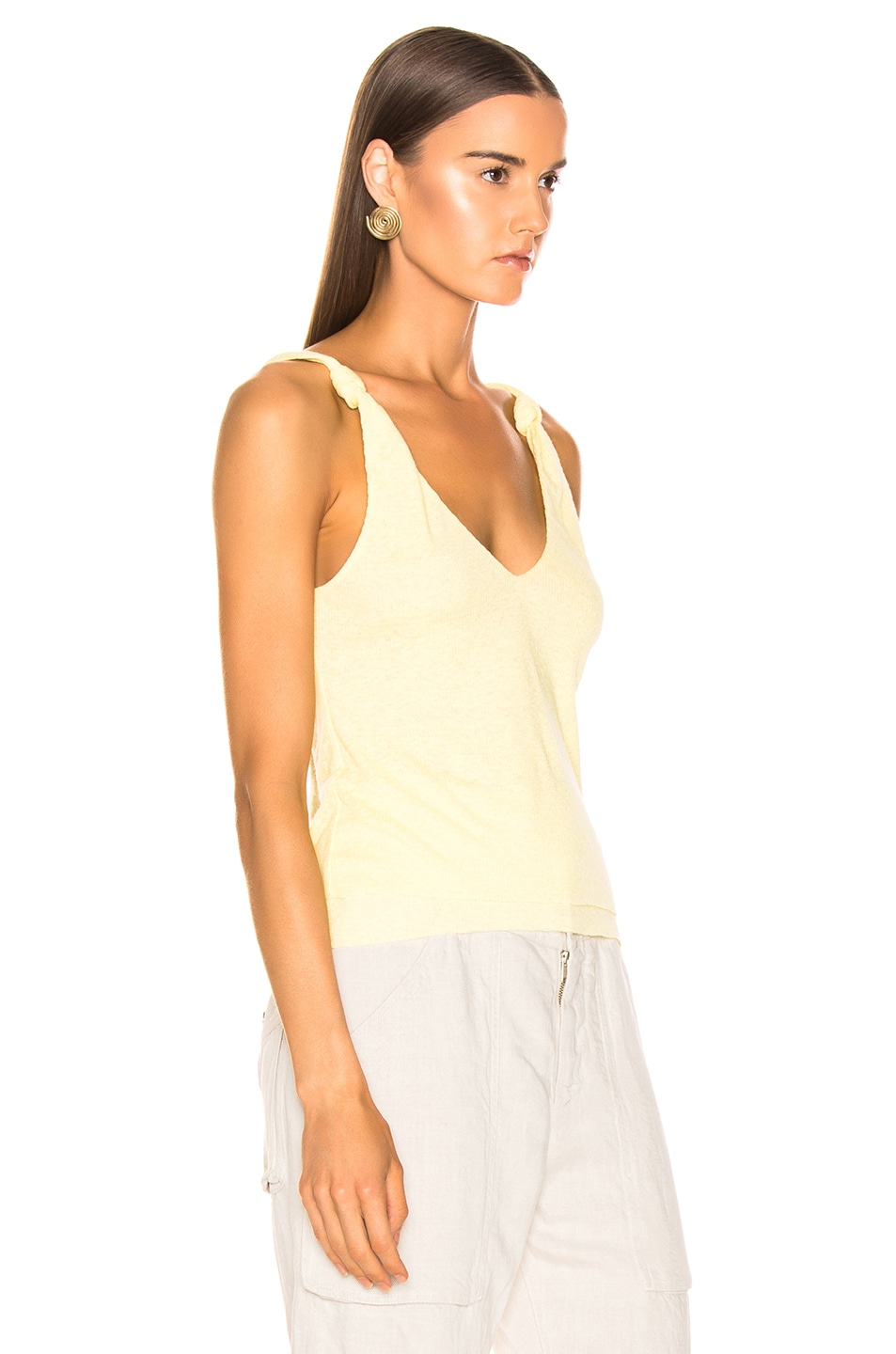 Image 2 of The Range Shadow Linen Rib Tank in Sol