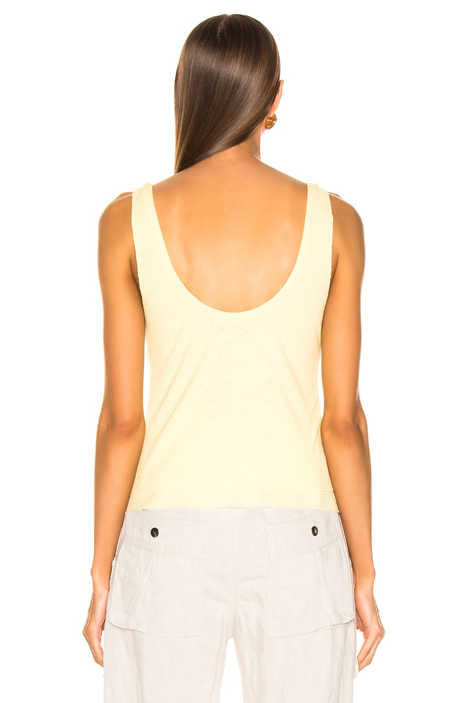 Image 3 of The Range Shadow Linen Rib Tank in Sol