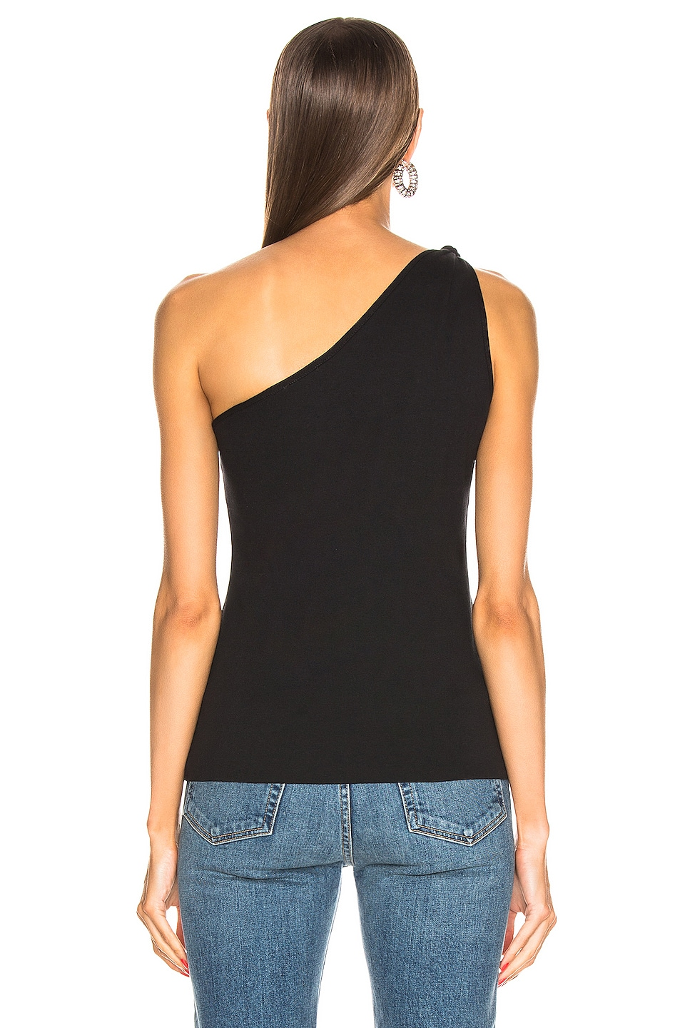 Image 3 of The Range Stark Rib Knot Tank in Jet Black