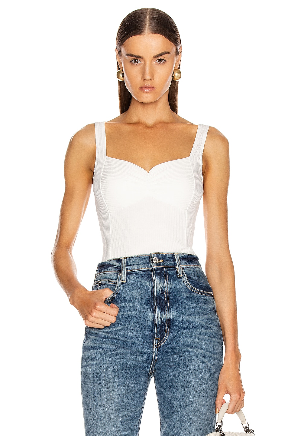 Image 1 of The Range Alloy Rib Structural Tank Top in White