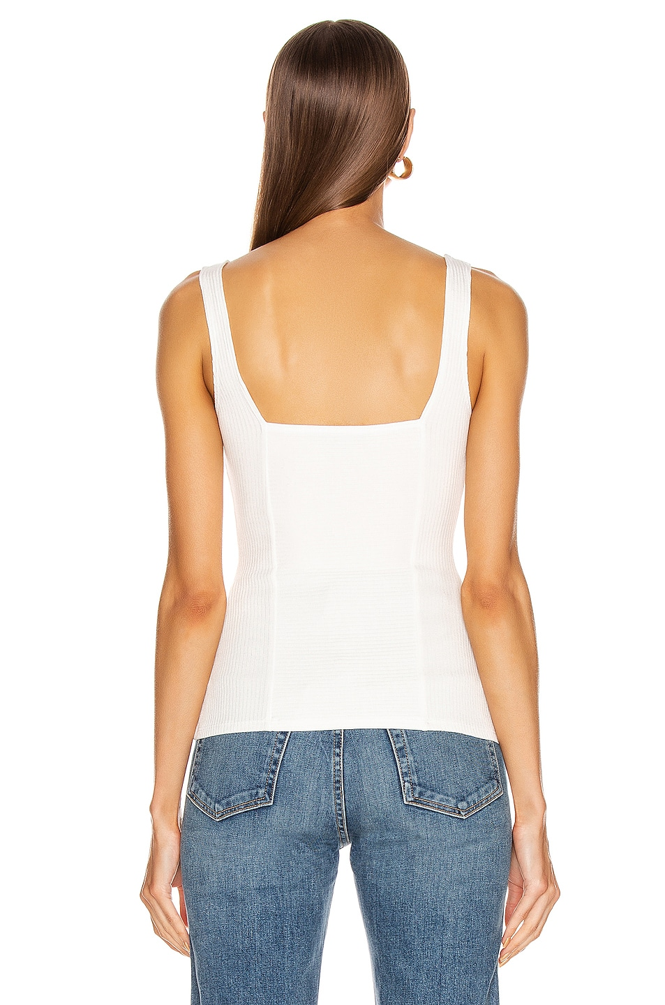 Image 3 of The Range Alloy Rib Structural Tank Top in White
