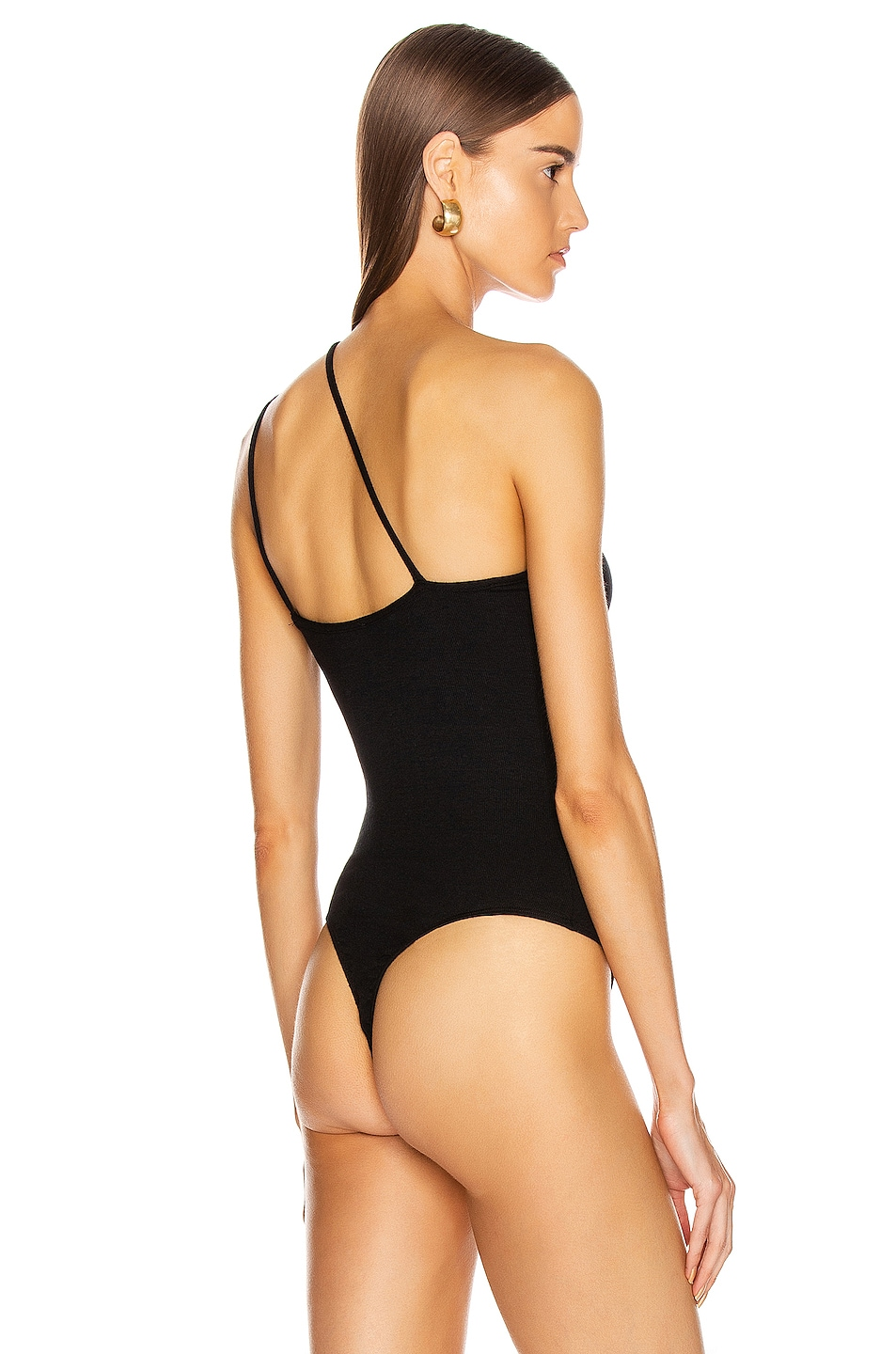 Image 5 of The Range Dynamic Rib Tilted Bodysuit in Black